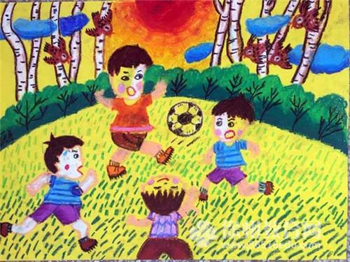 校园生活儿童画