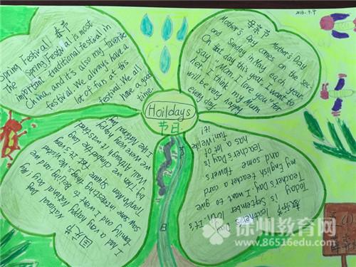 绿地小学举行英语思维导图设计大赛